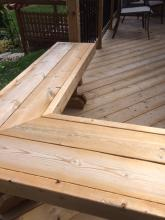 Residential Wooden Deck seating Installation in Ajax, Oshawa, Pickering, Whitby, Toronto, GTA