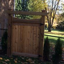Residential Fencing Wooden Door Installation in Ajax, Oshawa, Pickering, Whitby, Toronto, GTA