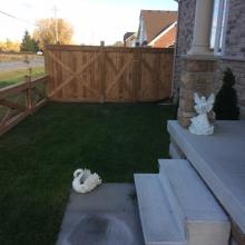 Commercial Decorative Wooden Fencing Installation in Ajax, Oshawa, Pickering, Whitby, Toronto, GTA