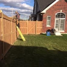 Residential Wooden Fencing Installation in Ajax, Oshawa, Pickering, Whitby, Toronto, GTA